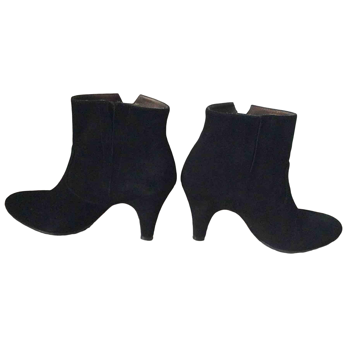 Patricia Blanchet \N Black Suede Boots for Women 36 EU