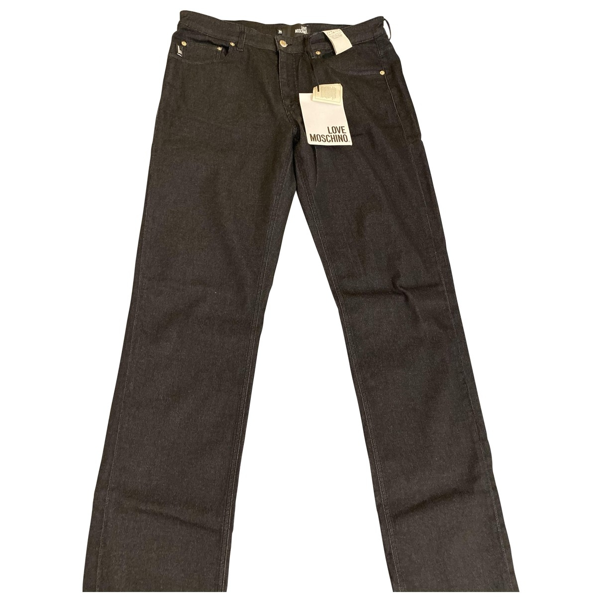 Moschino Love \N Black Cotton - elasthane Jeans for Men 34 US