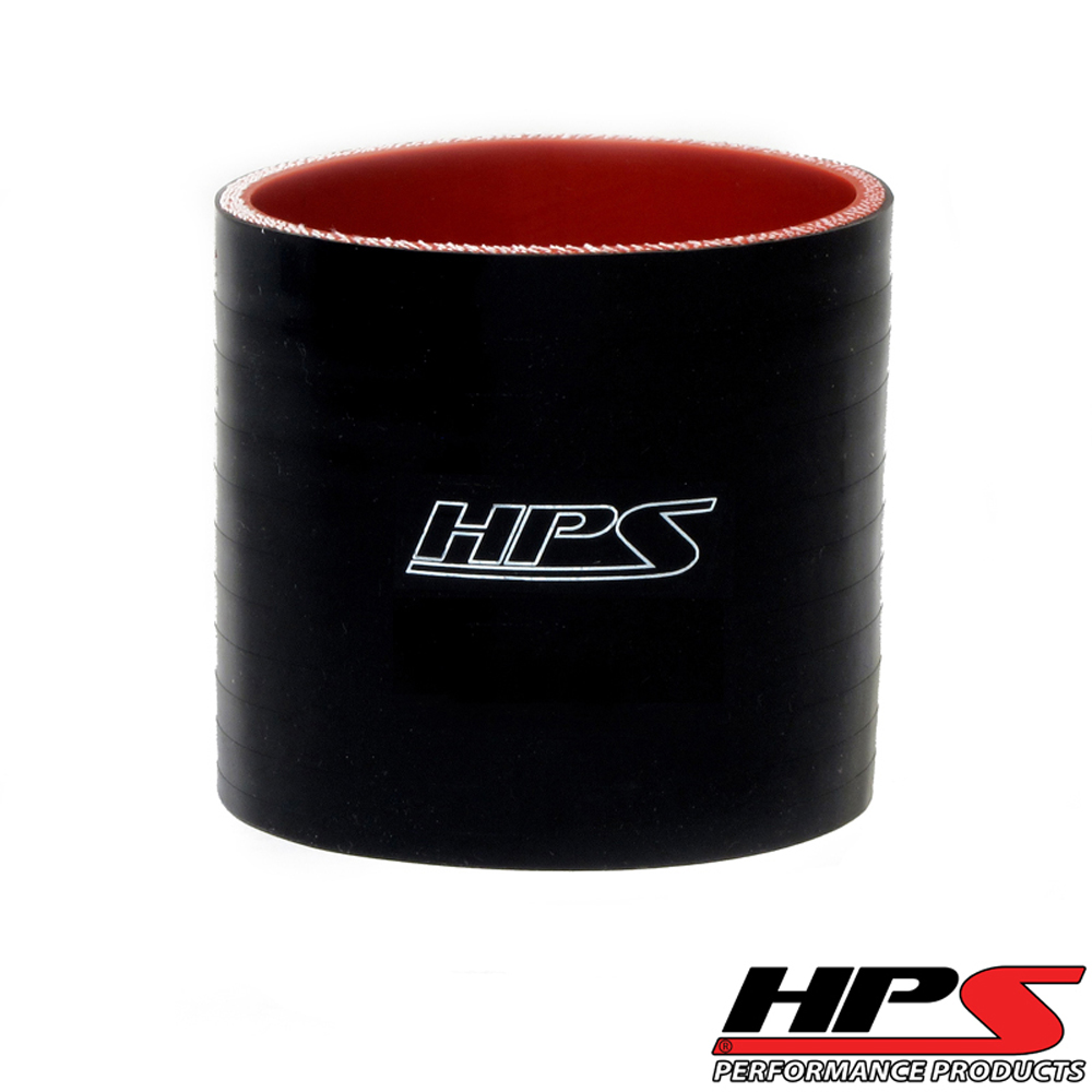 HPS 1inch (25mm) 4-ply Reinforced Straight Coupler Silicone Hose x 4inch Length Black