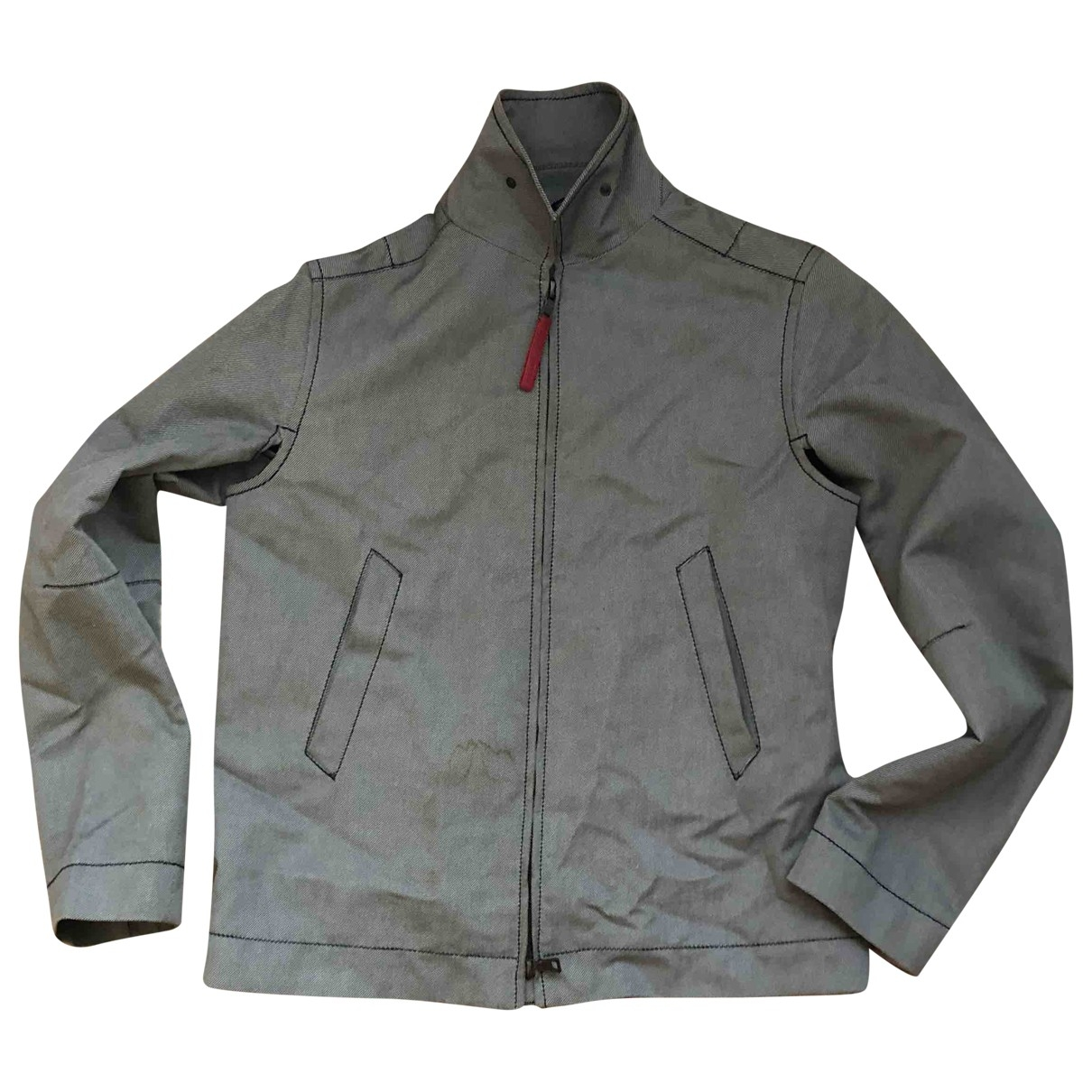Prada \N Grey Cotton jacket for Women 42 IT