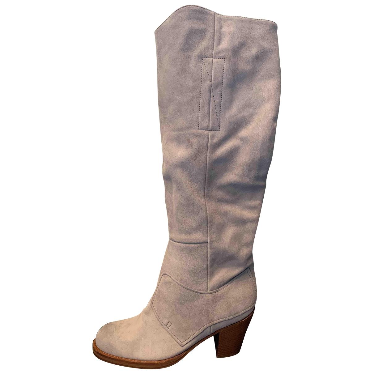 Acne Studios \N Grey Suede Boots for Women 39 EU