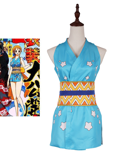 Milanoo One Piece Cosplay Costume Set Nami Dress