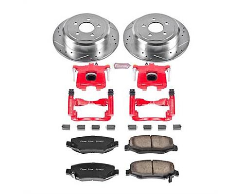 Power Stop KC3046A Z23 Evolution Sport Performance Brake Kit w/ Calipers Rear KC3046A