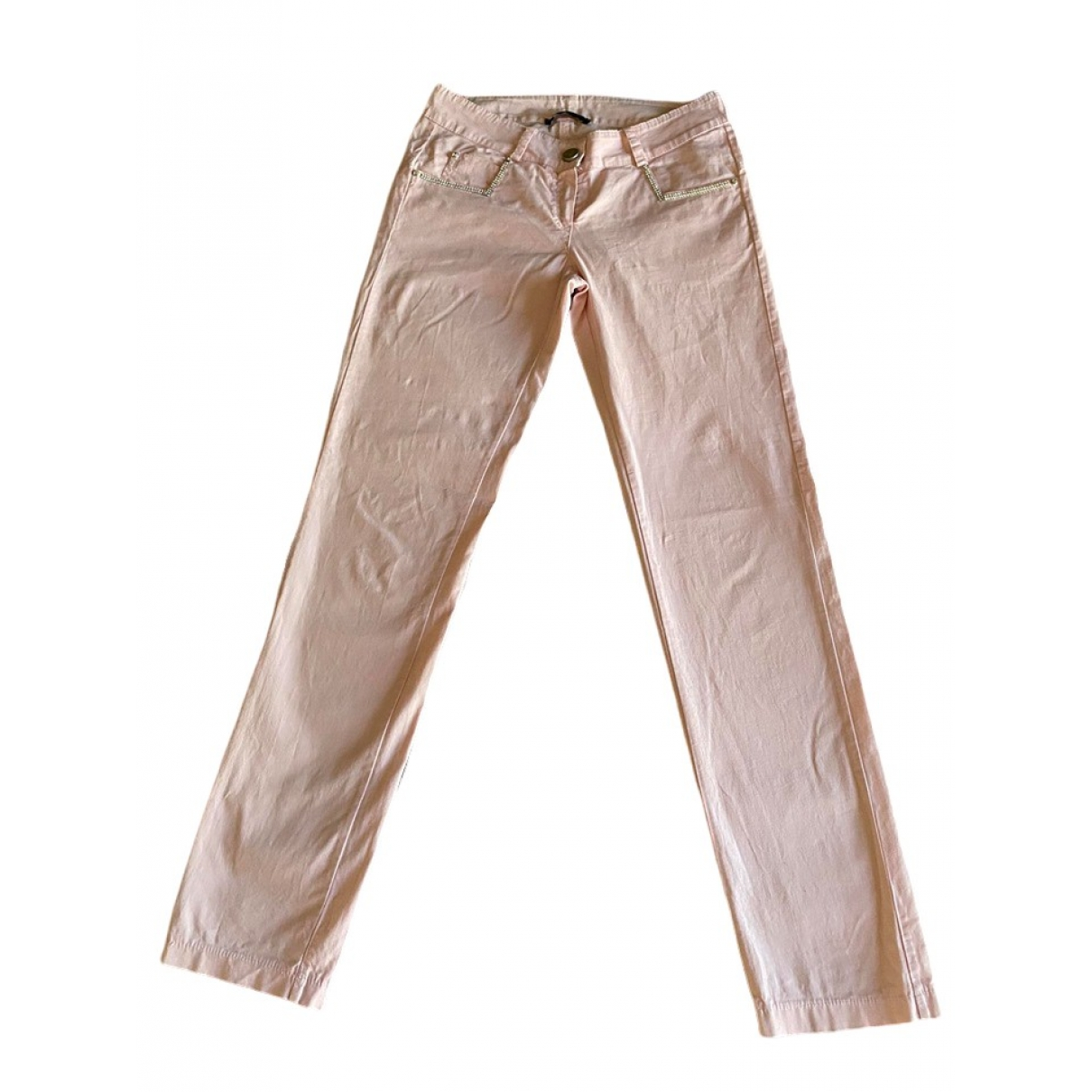 Blumarine \N Pink Cotton Trousers for Kids 12 years - XS FR
