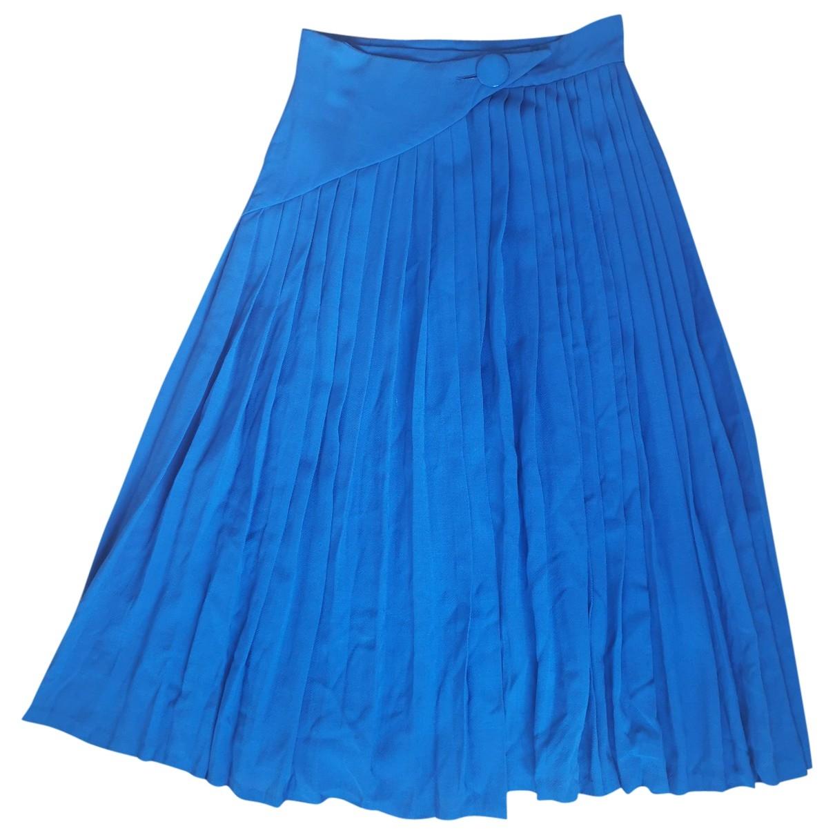 Lanvin \N Blue Cotton skirt for Women 38 FR