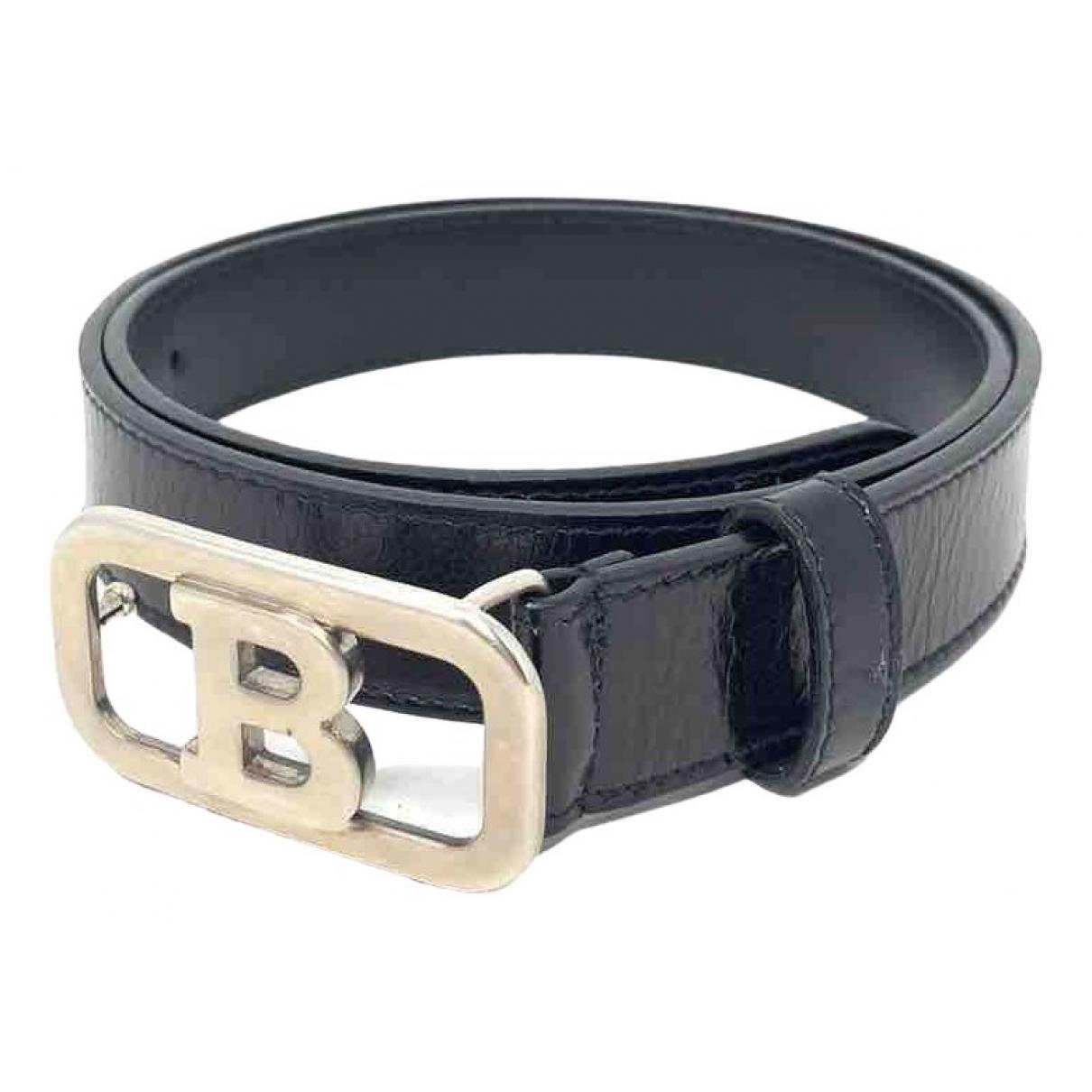 Bally \N Black Leather belt for Women 80 cm