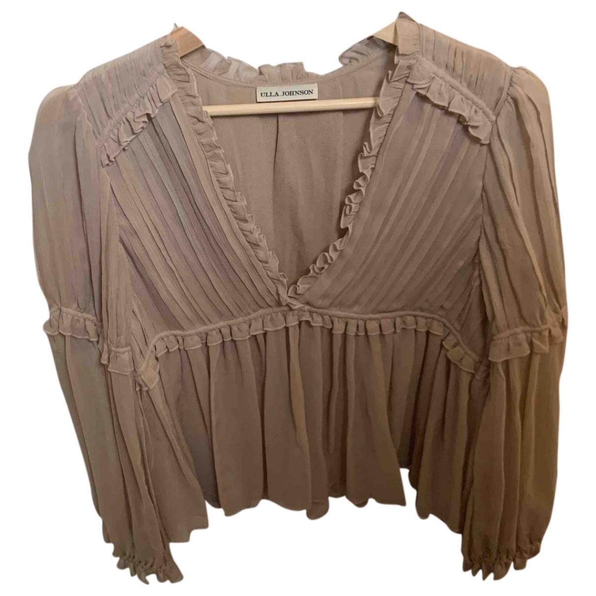 Ulla Johnson \N Beige Silk  top for Women 8 US