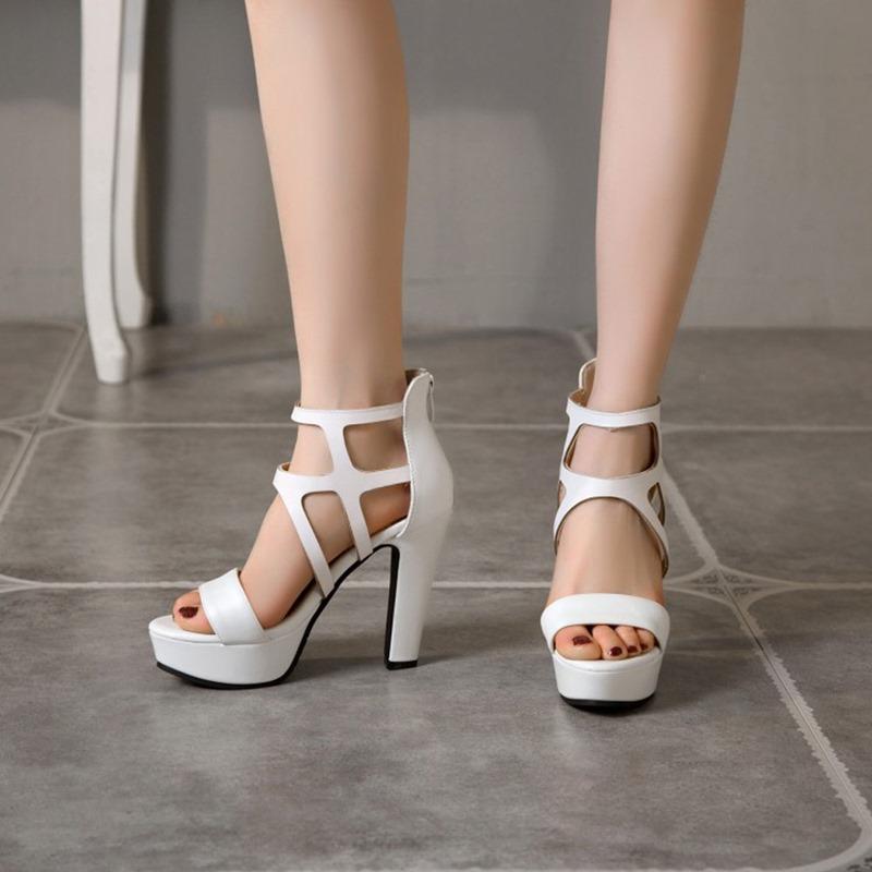 Ericdress Zipper Open Toe Zipper Sandals