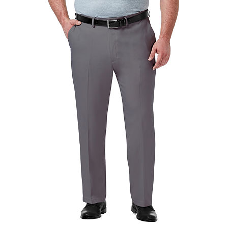 Haggar-Big and Tall Premium Comfort Dress Pant Mens Regular Fit, 50 34, Gray