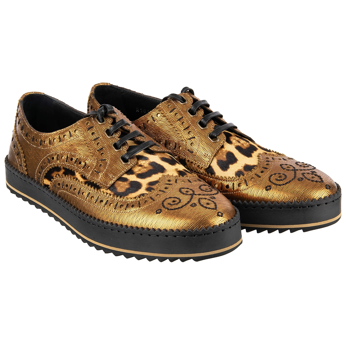 Dolce & Gabbana \N Gold Leather Lace ups for Men 41 EU