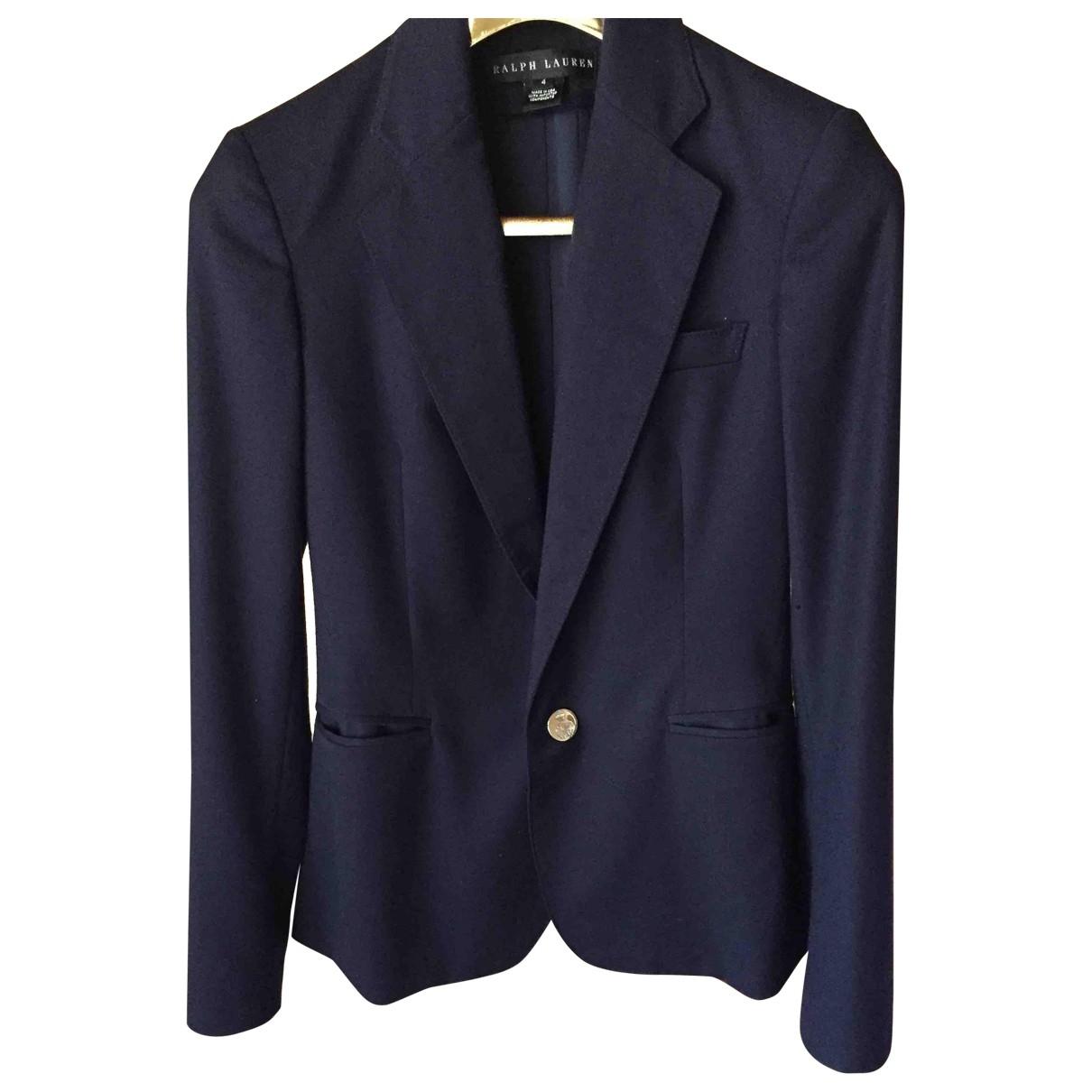 Polo Ralph Lauren \N Navy Wool jacket for Women 4 US