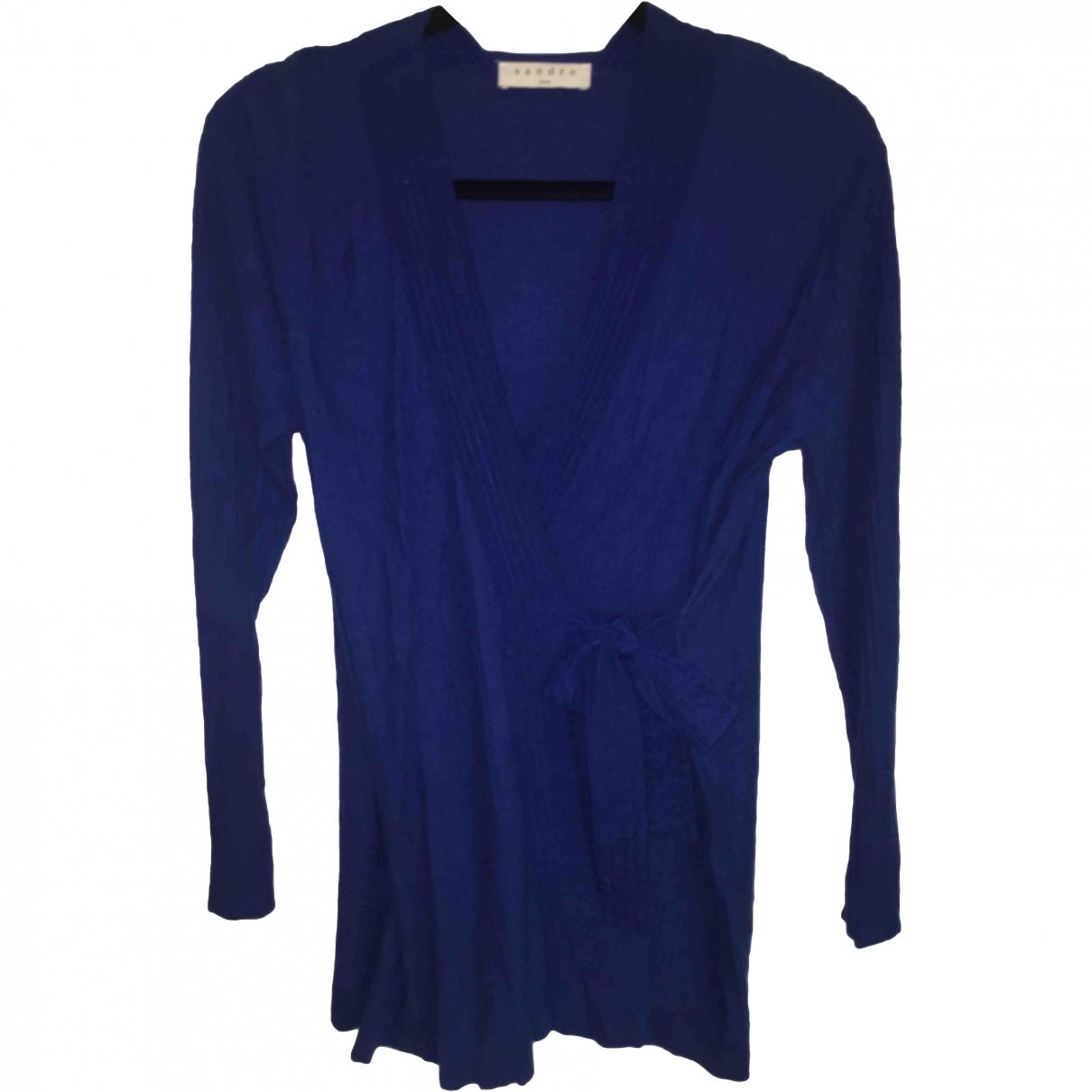 Sandro \N Navy Cotton Knitwear for Women 1 0-5