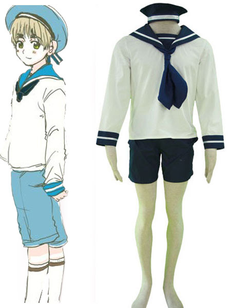 Milanoo Axis Powers Hetalia South Italy Halloween Cosplay Costume Sailor Suit