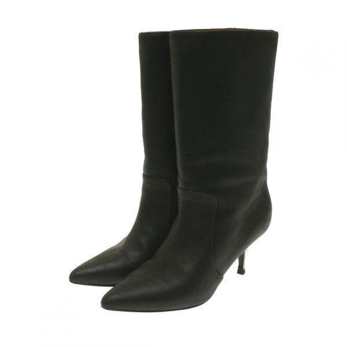 Lanvin \N Black Leather Boots for Women 37 EU