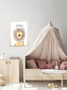 Lion Print Wall Painting Without Frame