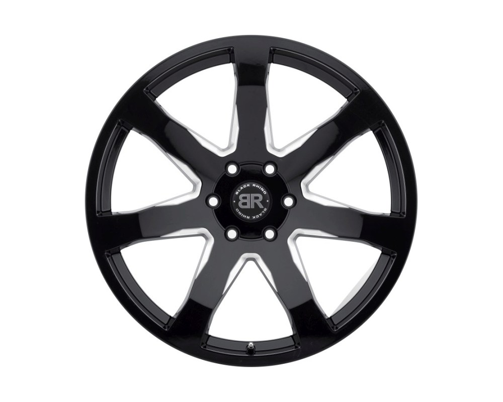Black Rhino Mozambique Gloss Black w/ Milled Spokes Wheel 22x9.5 6x139.70|6x5.5 25mm CB12