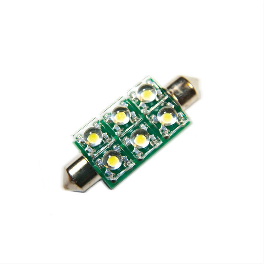 Oracle Lighting 5207-002 ORACLE 44MM 6 LED 3-Chip Festoon Bulbs (Pair) - Blue