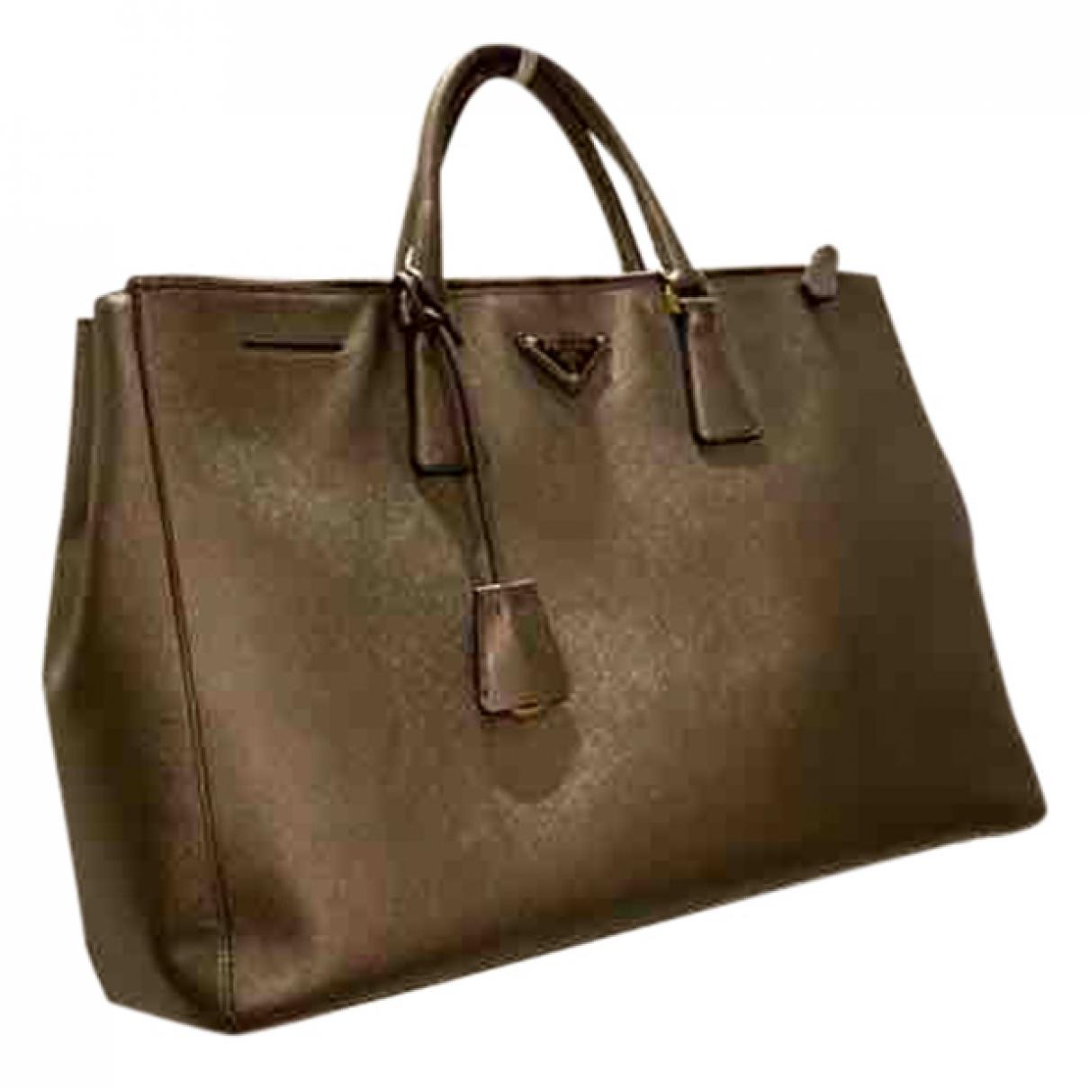 Prada Galleria Gold Leather handbag for Women \N