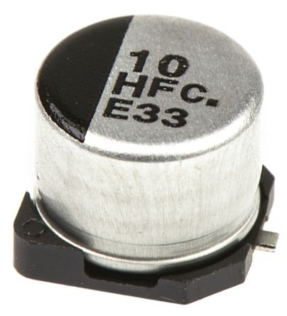Panasonic 10μF Electrolytic Capacitor 50V dc, Surface Mount - EEEFC1H100P (5)