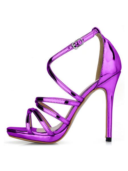 Milanoo Gladiator gold Sexy Sandal Criss-Cross High Heel Sandals