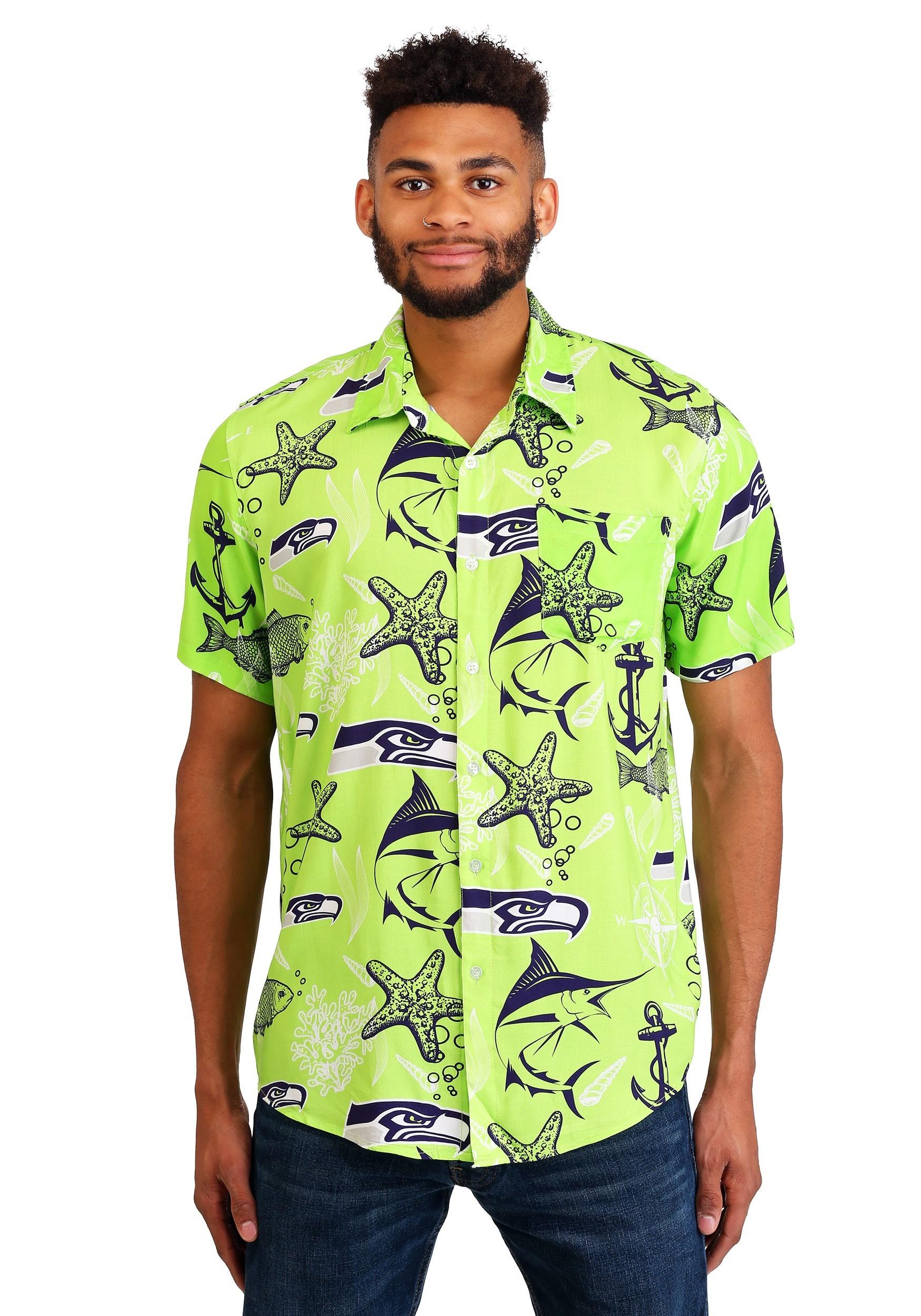 Men's Seattle Seahawks Floral Shirt
