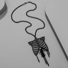 Halloween Skeleton Charm Necklace