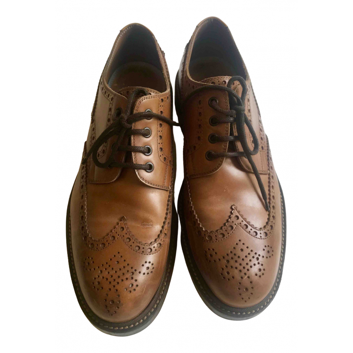 Brunello Cucinelli \N Brown Leather Lace ups for Men 44 EU