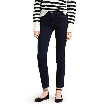 Levi's Classic Mid Rise Skinny Jean, 12 Short , Blue