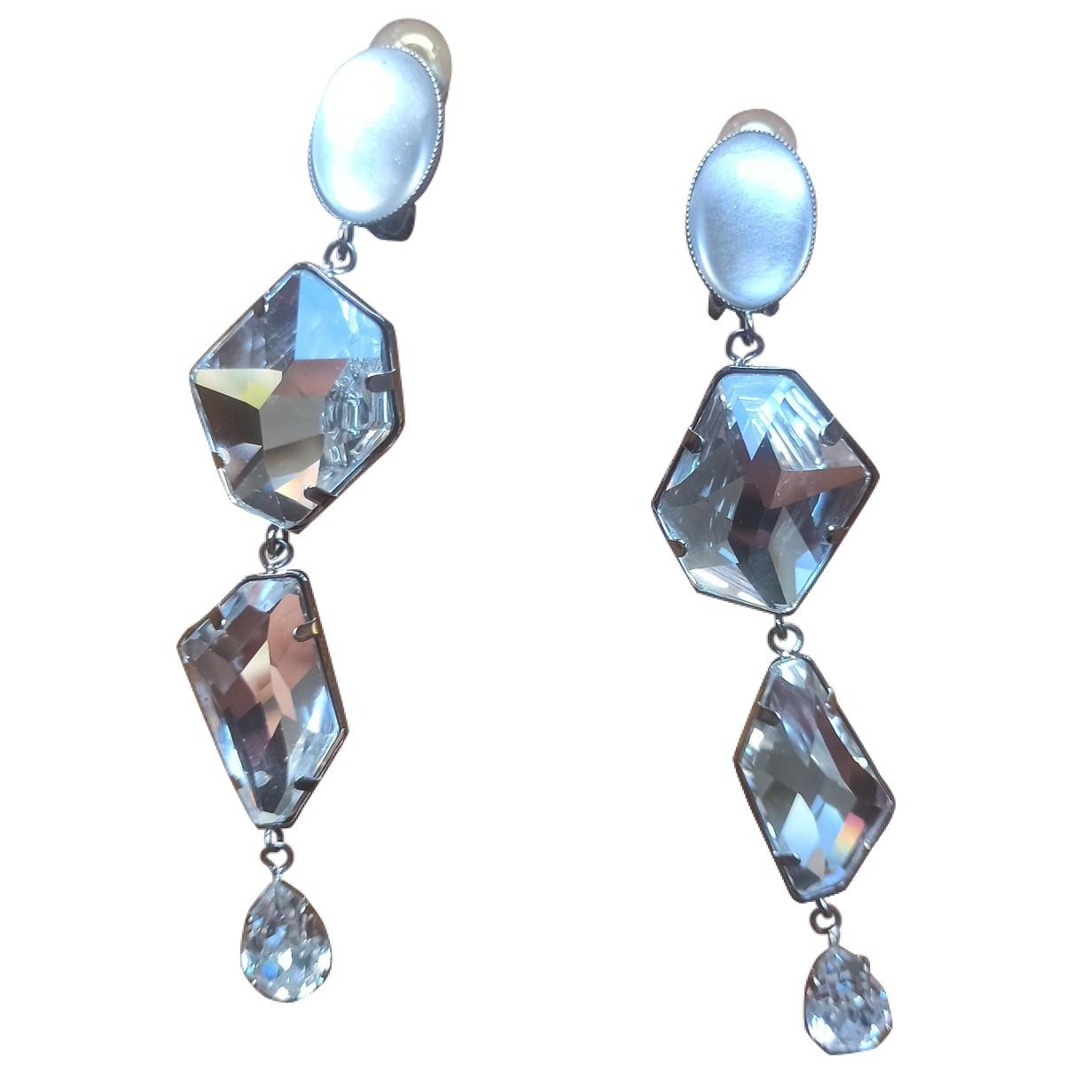Philippe Ferrandis \N Silver Crystal Earrings for Women \N