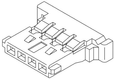 Molex , PanelMate Female Connector Housing, 1.25mm Pitch, 2 Way, 1 Row (10)