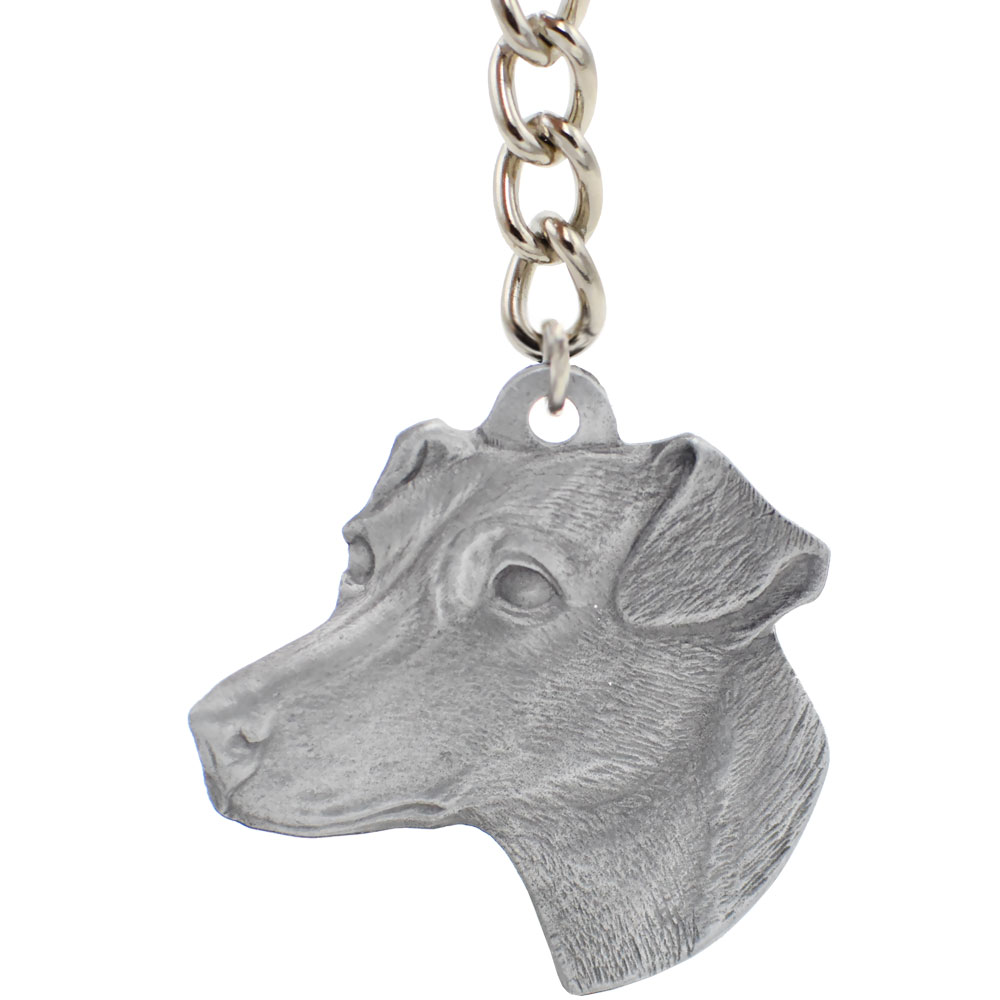 Dog Breed Keychain USA Pewter - Jack Russell Terrier (2.5