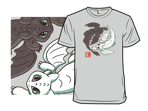 Yin Yang Dragons T Shirt