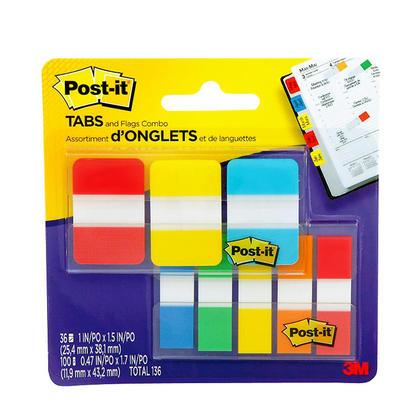 Post-it® Ensemble de drapeaux et onglets, couleurs variées