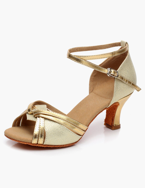 Milanoo Open Toe Low Heel Ballroom Shoes