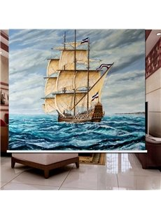 The Boat Sailing on the Sea 3D Printed Roller Shades