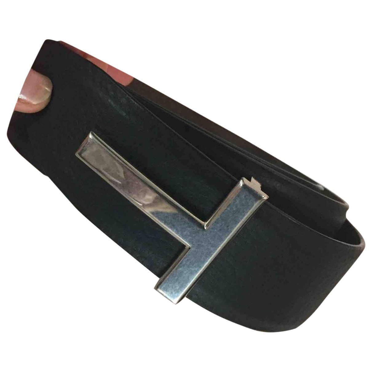Tom Ford \N Black Leather belt for Men 85 cm