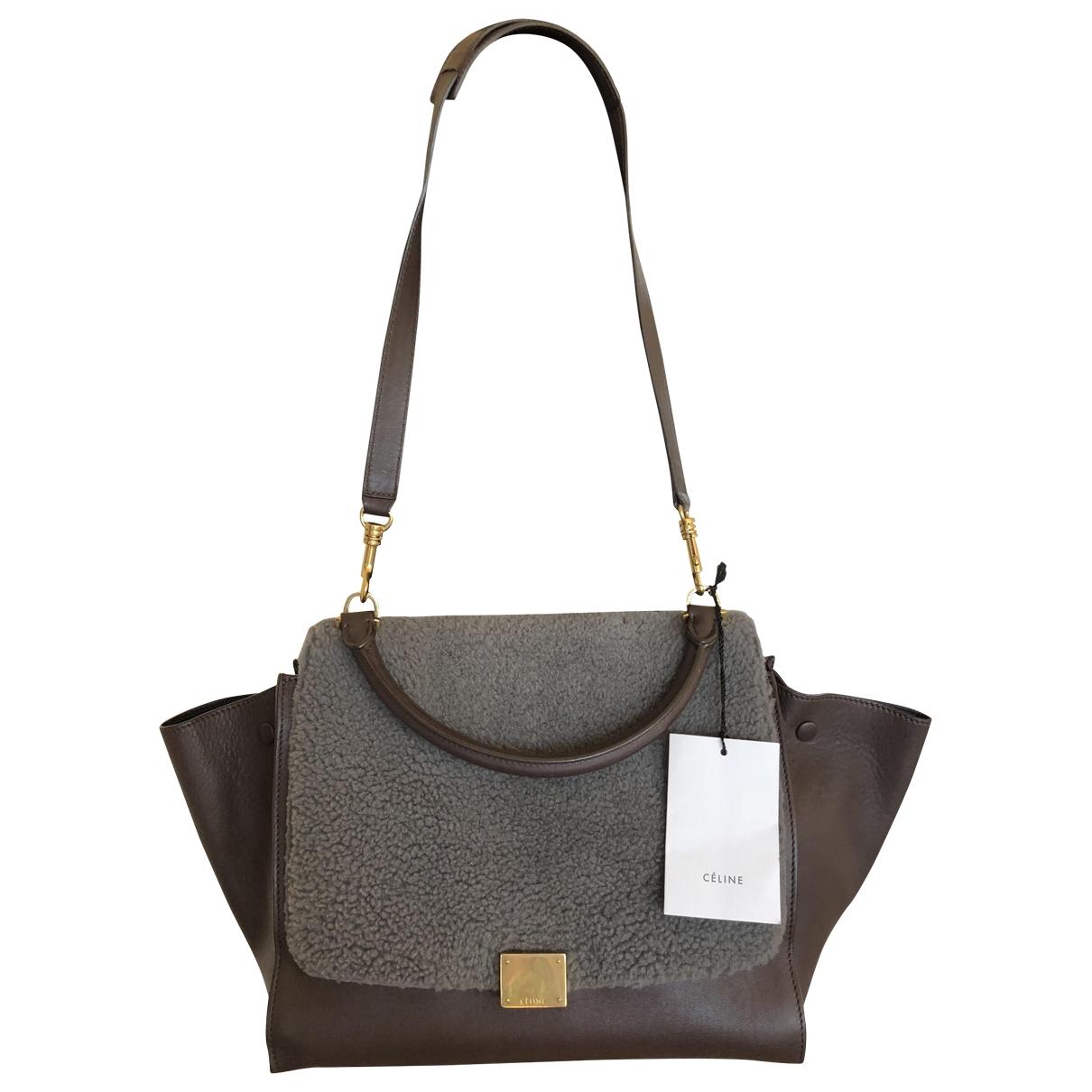Celine Trap??ze Brown Leather handbag for Women \N