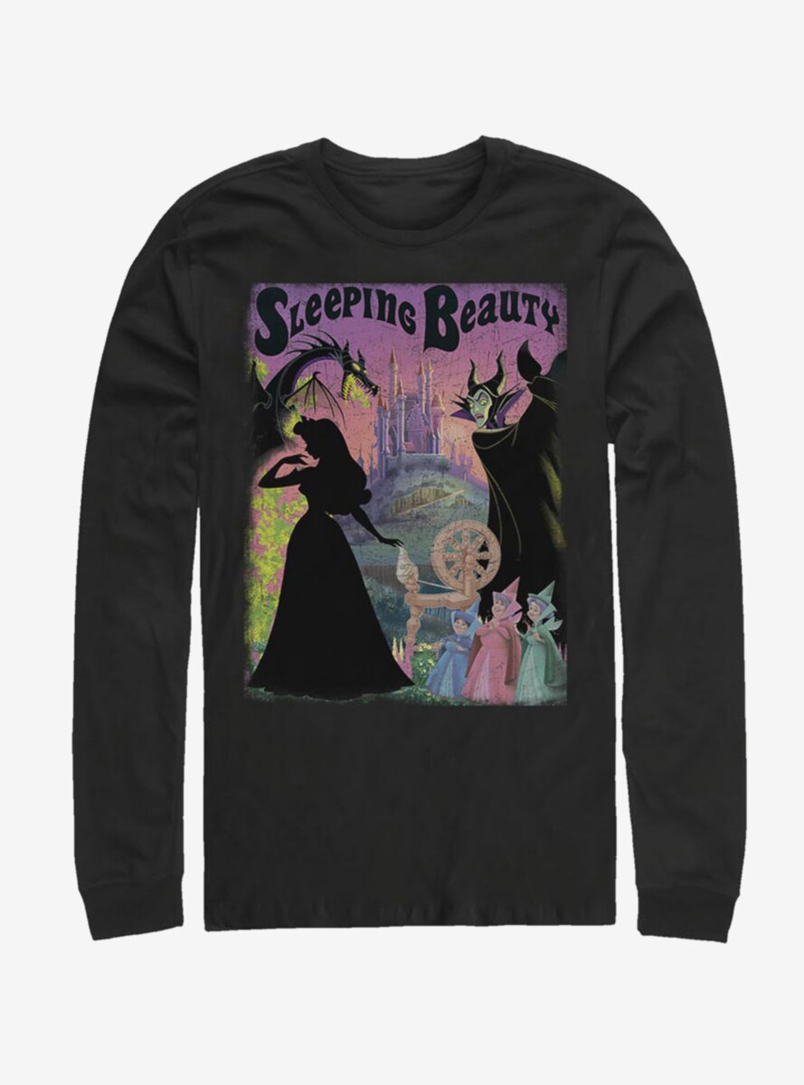 Disney Sleeping Beauty Classic Poster Long-Sleeve T-Shirt