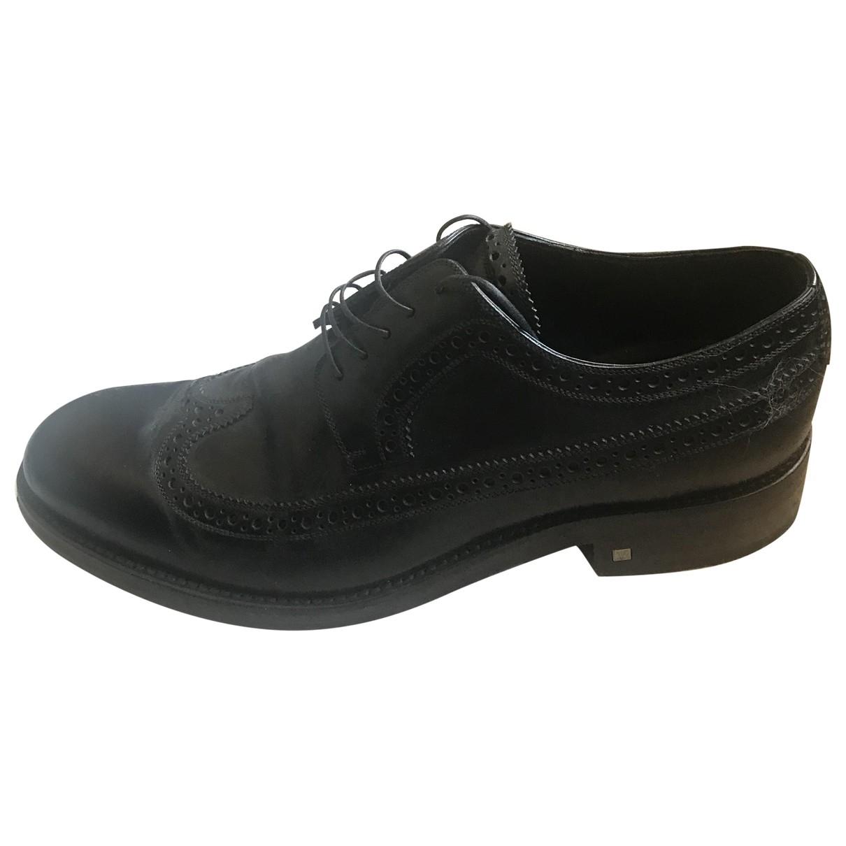 Louis Vuitton \N Black Leather Lace ups for Men 9.5 US