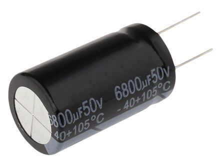 RS PRO 6800μF Electrolytic Capacitor 50V dc, Through Hole (2)