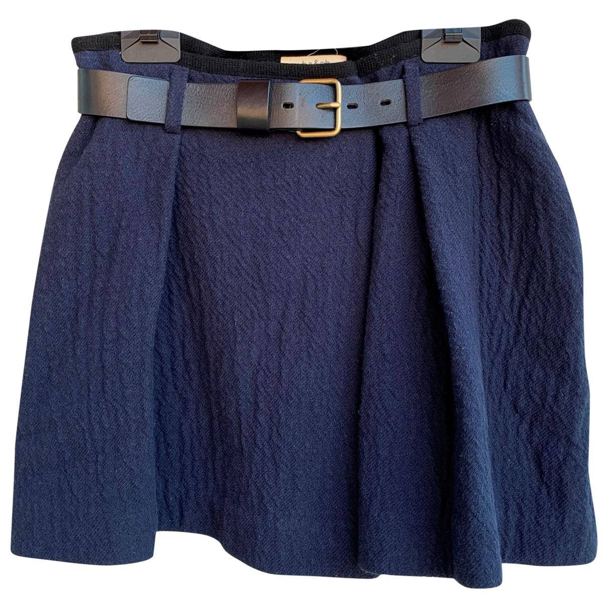 Ba&sh \N Blue Cotton skirt for Women 1 0-5