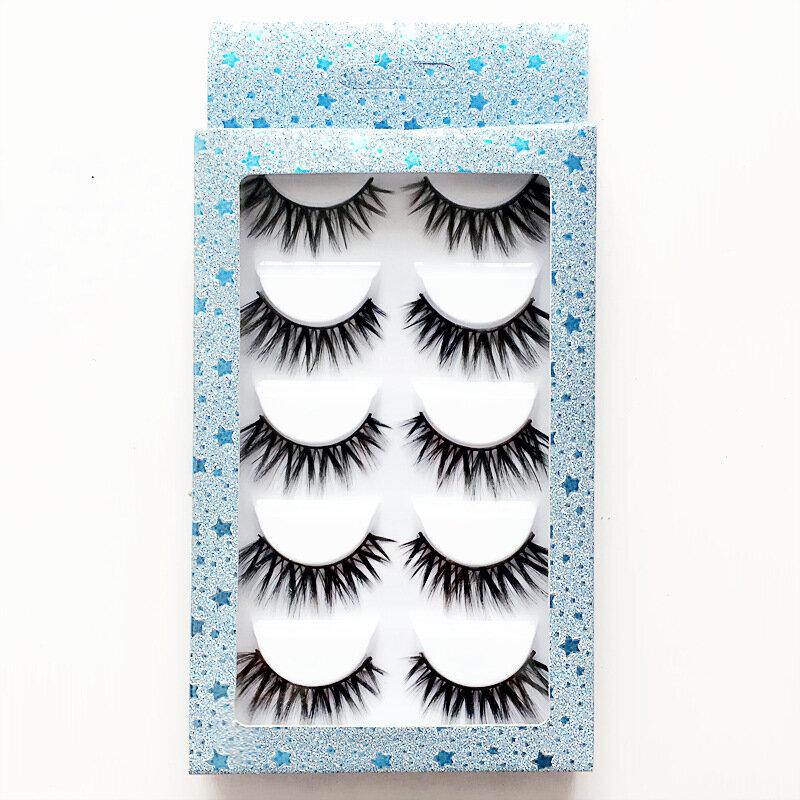 3D Natural False Eyelashes Thick Curl Volume Fake Lashes Makeup Eyelash Extension Eyelashes