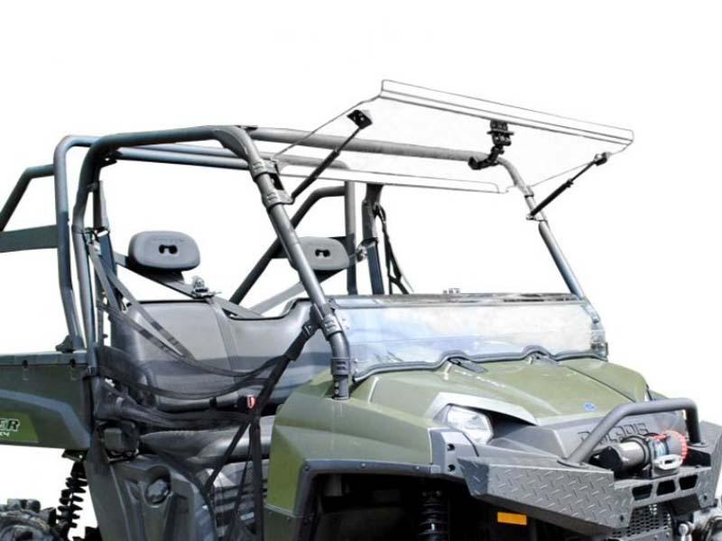 SuperATV FWS-P-RAN09XP-002-70 Scratch Resistant Flip Windshield Polaris Ranger XP 800 10-14