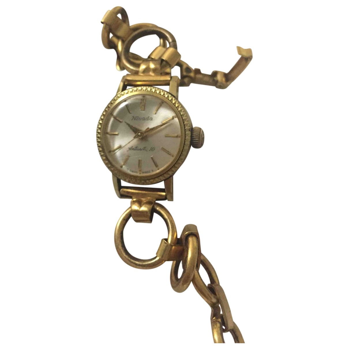 Non Signé / Unsigned \N Gold Gold plated watch for Women \N