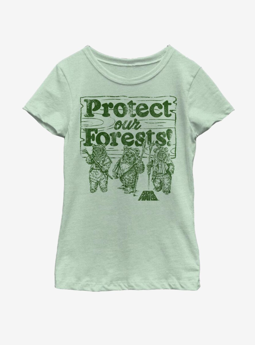 Star Wars Protect Our Forests Youth Girls T-Shirt