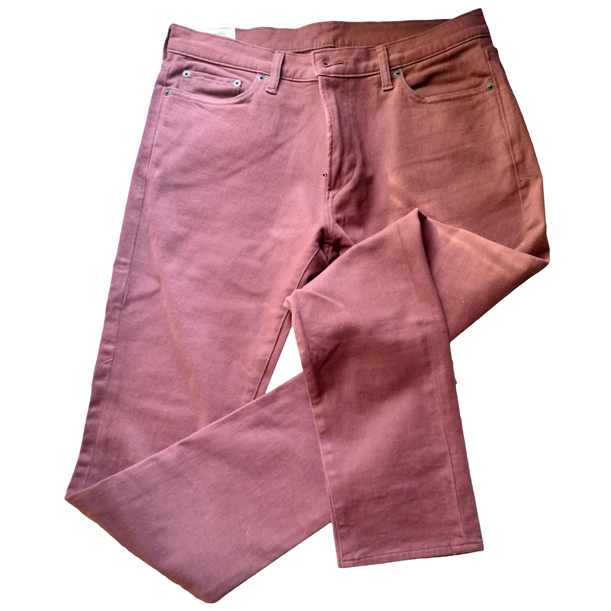 Abercrombie & Fitch \N Burgundy Cotton Trousers for Men 34 UK - US