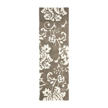 Safavieh Shag Collection Eric Geometric Runner Rug, One Size , Multiple Colors