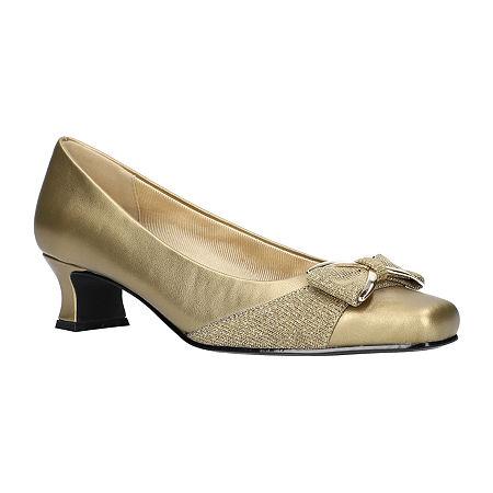 Easy Street Womens Rejoice Pumps Spike Heel, 7 1/2 Medium, Yellow