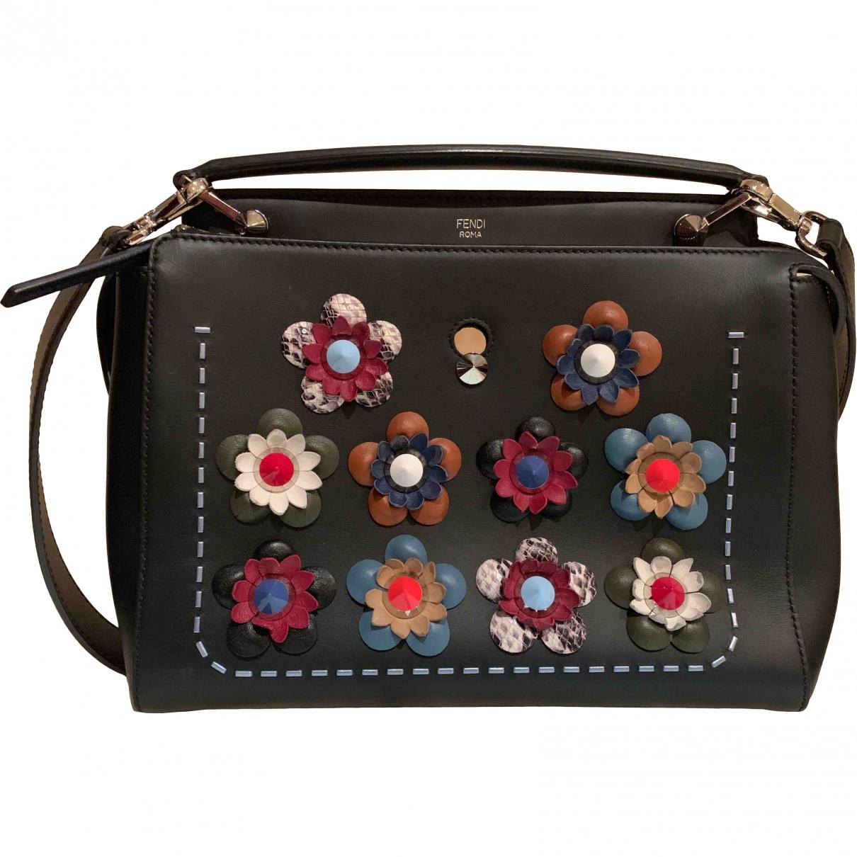 Fendi Dot Com Black Leather handbag for Women \N