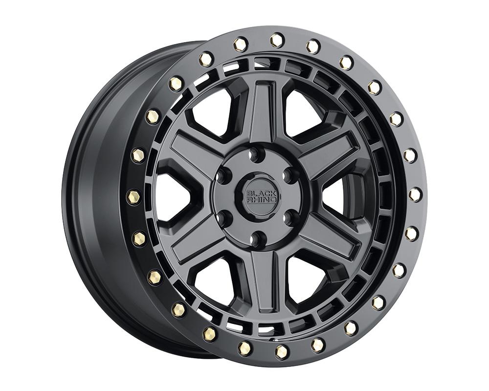 Black Rhino Reno Wheel 18x9.5  5x150 12mm Matte Black w/Brass Bolts